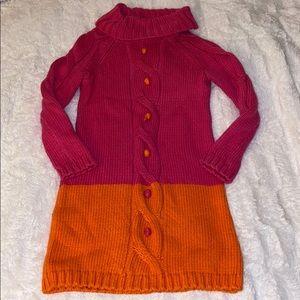 Gymboree sweater dress 6 girls pink orange